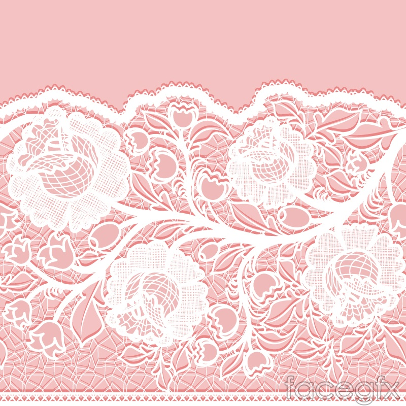 White lace flowers vector