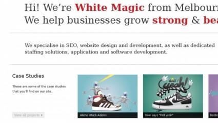 White Magic Homepage Design
