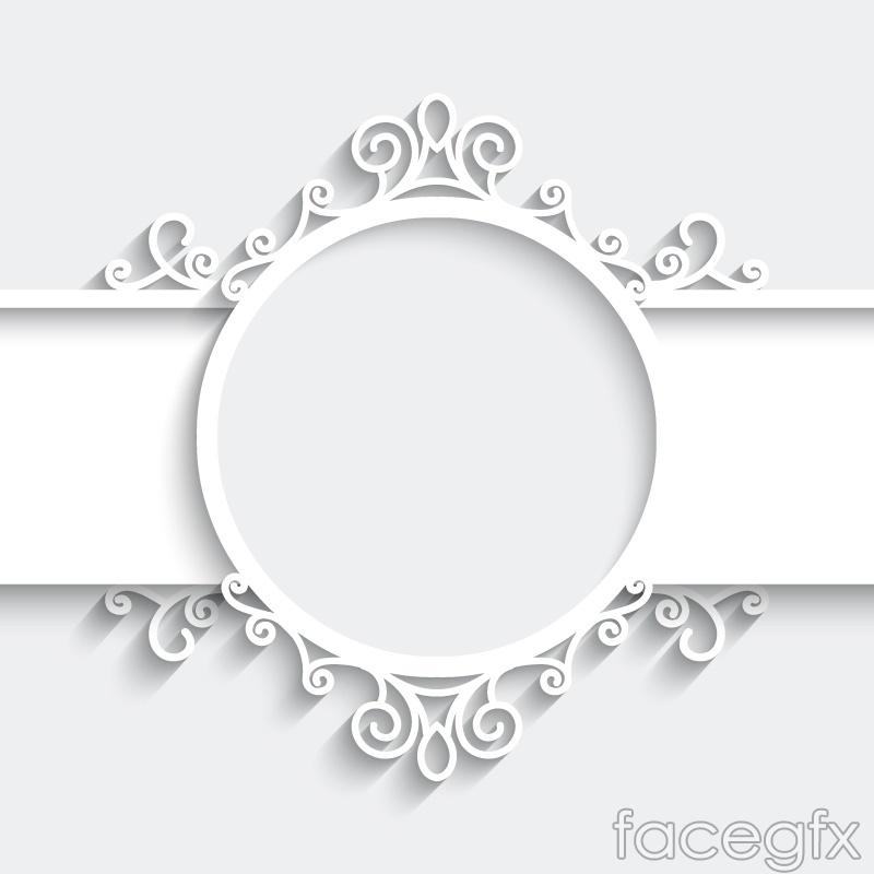 White pattern paper-cut vector background – Over millions vectors ...