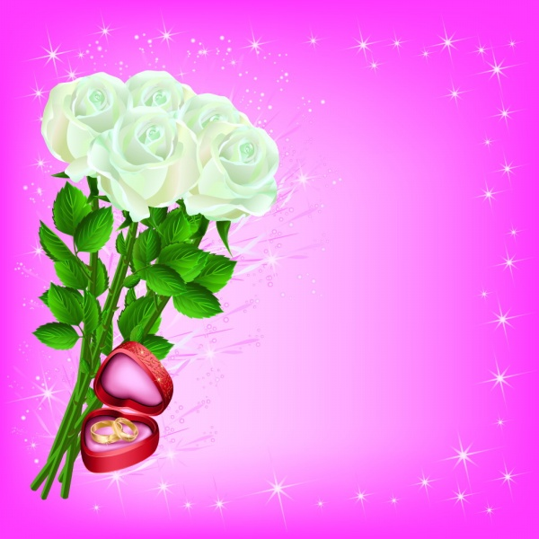 White Rose romantic PSD background