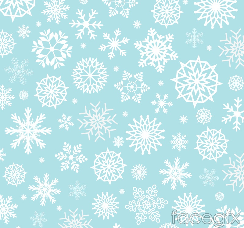 White snowflakes on blue background vector