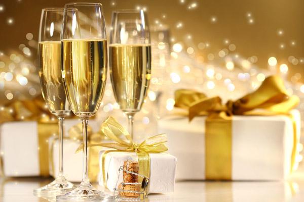 White wine and gift box PSD