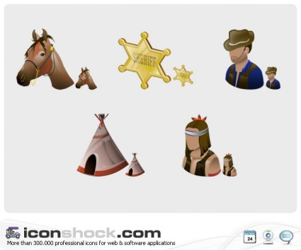 Wild West Vista Icons icons pack