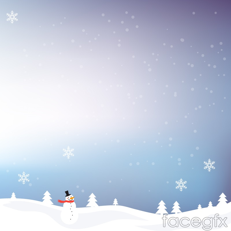 Winter Snowman Background Vector  Over Millions Vectors Stock