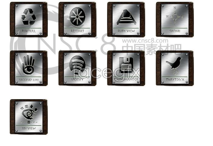 Wood textures desktop icons