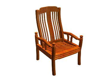 Wooden chairs model portfolio 3D Model