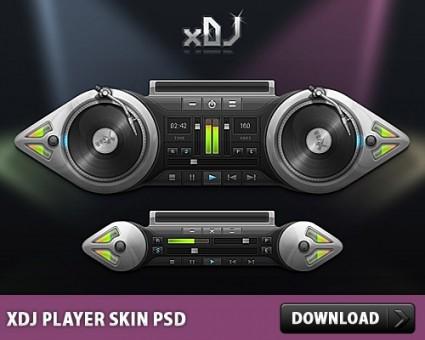 xDJ Player Skin Free PSD
