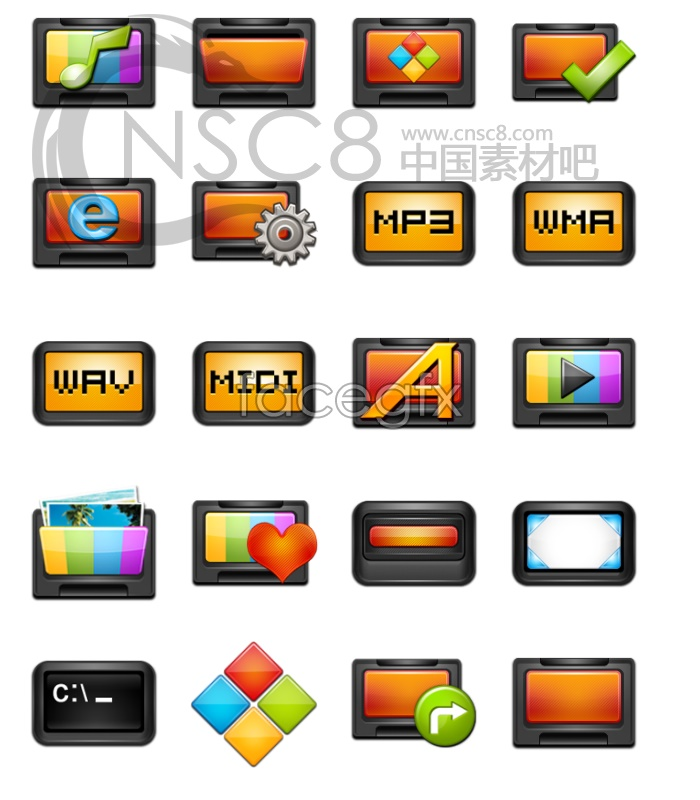 XP computer icons
