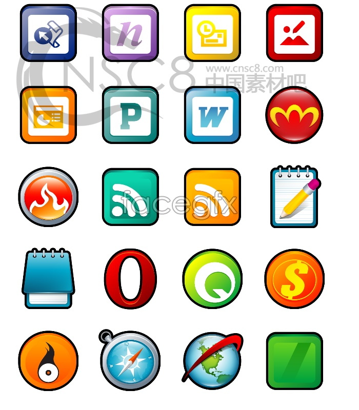 XP stereo cartoon software icons
