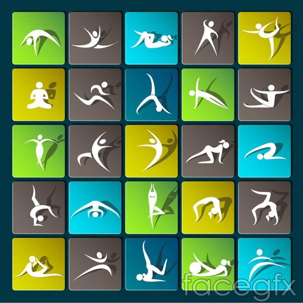 Yoga icon vector over millions vectors stock photos hd yoga icon vector toneelgroepblik Images
