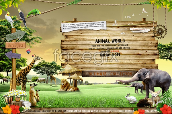 Zoo navigation signs psd over millions vectors stock photos hd zoo navigation signs psd toneelgroepblik Images
