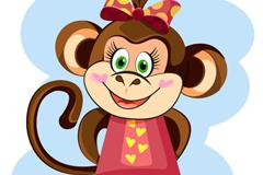 Link toDai hudie knot of cute cartoon monkey vector