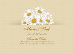 Link toDaisy wedding invitations vector
