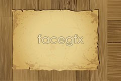 Damage of wood and kraft paper roll retro style background vector