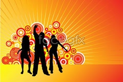 Link toDance people silhouette vector