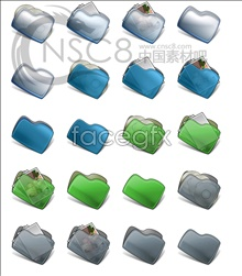 Link toDark blue bean-shaped folders