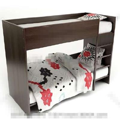 Link toDark brown children stacked bed 3d model