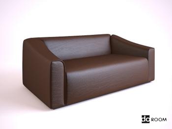 Link toDark brown cortical many people sofa 3d model