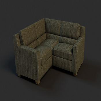 Link toDark corner sofa model 3d model