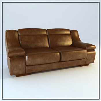 Link toDark double sofa 3d model