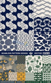 Link toDark flora and fauna patterns vector