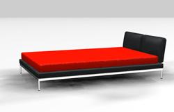 Link toDark red bed 3d models