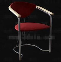 Link toDark red metal feet chairs 3d model