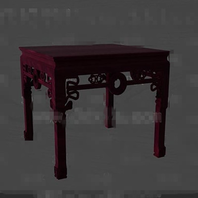 Link toDark red wooden engraving chair 3d model