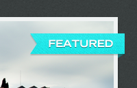 Link toDark slider with featured ribbon psd