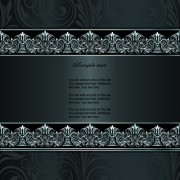 Link toDark style floral vintage backgrounds vector graphics 02 free
