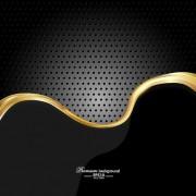 Link toDark style metal wave background vector set 03 free