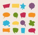 Dash language bubbles vector
