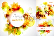 Link toDazzle dream flower background vector
