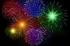 Link toDazzling fireworks background design vector