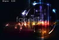 Link toDazzling light effect background vector graphic s