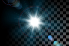 Link toDazzling light effect black and white background vector
