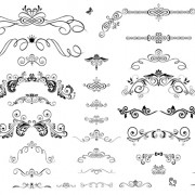 Link toDecor ornaments and border vector free