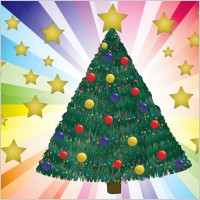 Link toDecorated christmas tree vector