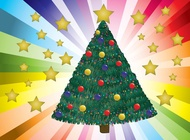 Link toDecorated christmas tree vector free