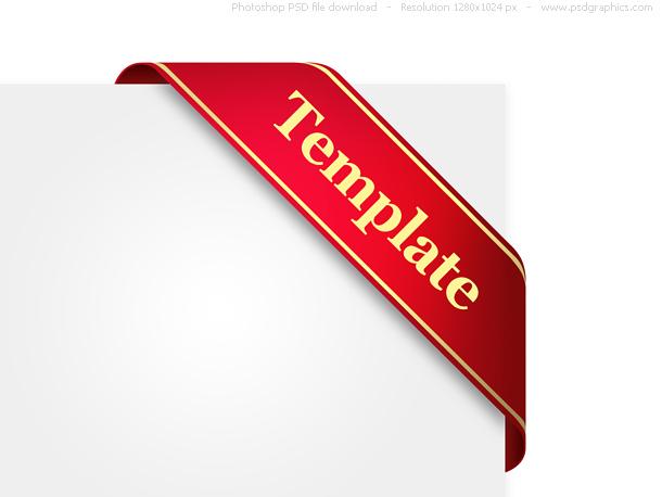 Link toDecorative corner ribbon, psd template