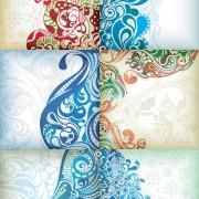 Decorative exquisite pattern background vector