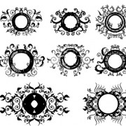 Link toDecorative floral design pack vector 05 free