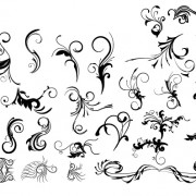 Link toDecorative floral design pack vector 06 free