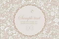 Link toDecorative round lace background vector