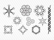 Link toDecorative sketch vector symbols free