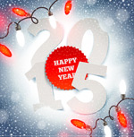 Link toDecoupage 2015 winter background vector