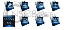 Link toDeep blue office series icons