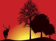 Link toDeer silhouette vector free