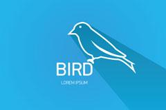 Link toDelicate birds logo design vector