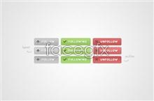 Link toDelicate button icon psd
